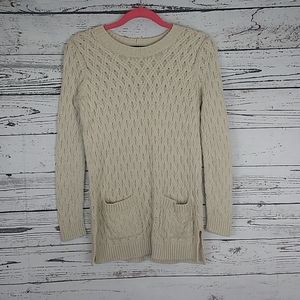 Jeanne pierre cable knit sweater size small